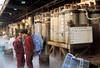 Tsukiji Fish Market oxygen tanks for live fish displays