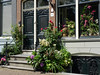 Flowers & plants decorate Amsterdam building entrance