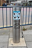 Public use of bicycle tyre pump in Kingston upon Thames