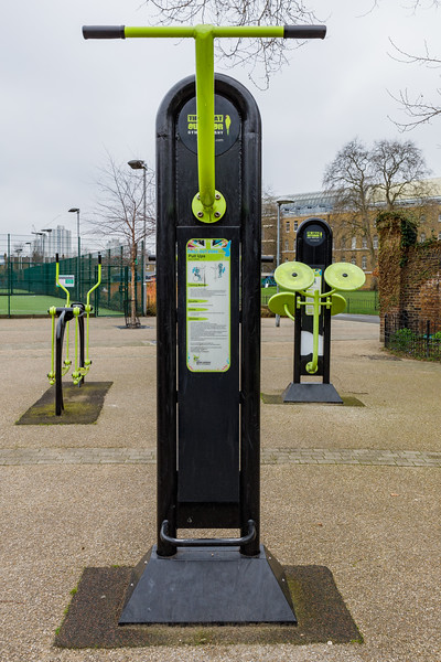 Outdoor gym by the Geraldine Mary Harmsworth Sports facility