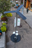 Solar street charger installed by the Union Square Partnership in New York City