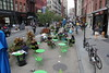 An area for relaxation and socialising carved out of Broadway, New York City