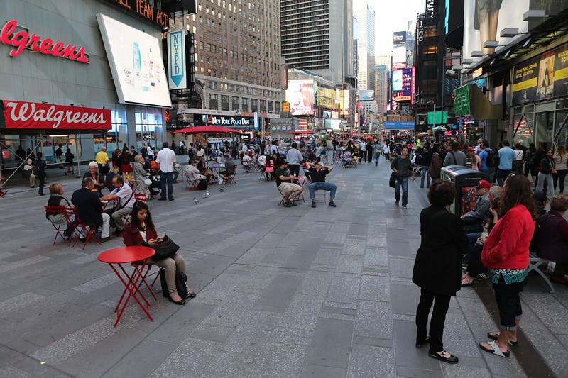 Pedestrianised Broadway Avenue, Manhattan, New York