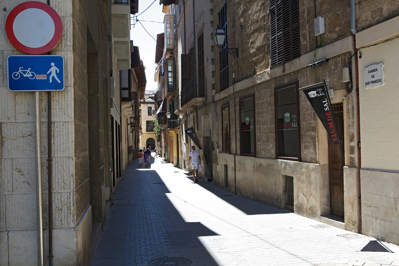 Pedestrian and cyling street, Palma, Mallorca, Spain