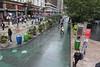 Pedestrian area on Broadway outside Macy's, Manhattan, New York