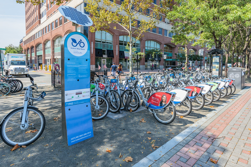Hudson Bike Share operated by Nextbike in Hoboken, New Jersey