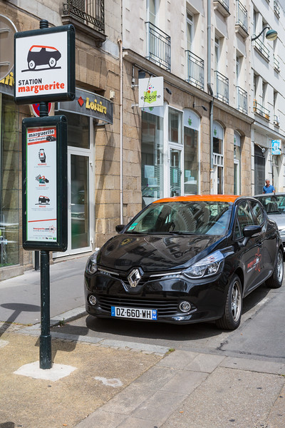 Marguerite car sharing service in Nantes, France