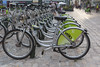 Velo+ bicycle rental station, Orleans, France