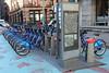 Citibike bicycle rental station, New York City