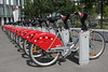 Bicycles belonging to Grand Lyon's Vélo'v bicycle rental scheme