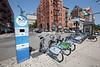 Hudson Bike Share station on Hudson Place in Hoboken, New Jersey, USA
