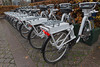Electric Gobikes for hire at the corner of Allegade and Gammel Kongevej in Copenhagen