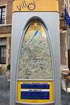 Villo bicycle hire scheme map and tariffs Brussels Belgium 160811 �RLLord 9779 v smg