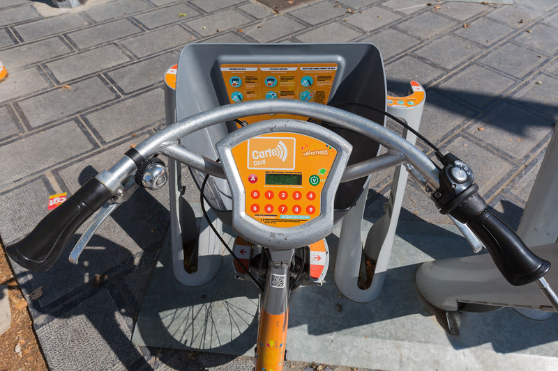 Velomagg bicycle for hire in Montpellier, France