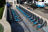 Barclays cycle hire at Green Park tube station in London