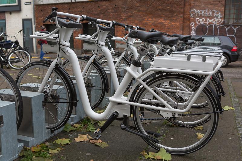 Electric Gobike station on Borgergade, Copenhagen