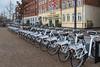 A Gobike electric bike sharing station on Havnegade, Copenhagen