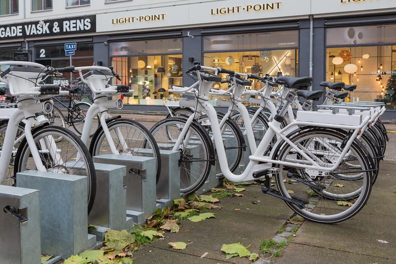 Gobike electric bicycle station on Borgergade, Copenhagen