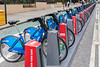 Citibike docking station on First Avenue and 68th Street in Manhattan