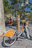 Velomagg bicycle rental station in Montpellier, France
