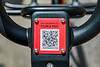 Mobike QR code on bike to use with mobile phone to unlock it