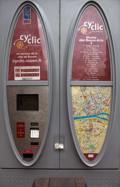 Cy'Clic bicycle hire scheme in Rouen, France