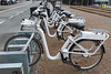 Electric bicycles for hire at a Gobike station on Havngade, Copenhagen