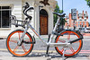 Mobike available for hire at Endsleigh Gardens, London, UK on 24 June 2018