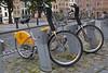 Villo bike sharing scheme bikes in Brussels, Belgium