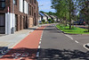 Cycle lane on Brugstraat in Gennep, The Netherlands