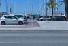 Bicycle path Palma harbour Mallorca Spain 280614 ©RLLord 2186 smg