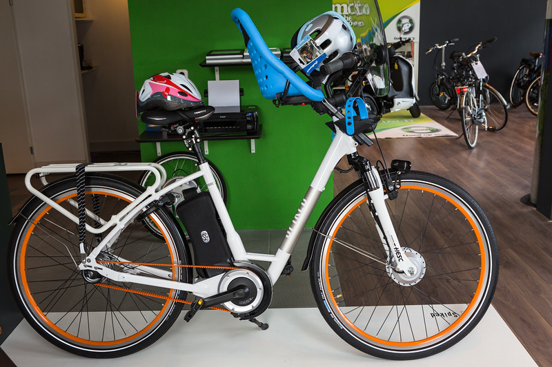 Bespoke electric bicycle at Spiked Cycles in Rotterdam, Netherlands