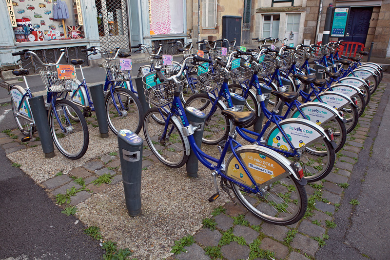 bicycle bike sharing scheme Rennes Brittany France 140813 ©RLLord 0624 smg