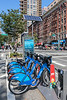 Citibike docking station on 1st Avenue and 68th Street in Manhattan, New York City