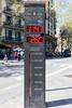 Bicycle counter at Placa Tetuan, Barcelona, Spain