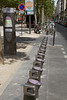 Bike sharing scheme station in Paris, France