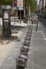 Bike sharing scheme station in Paris, France
