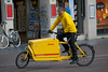 DHL cargo bike in Amsterdam, Netherlands