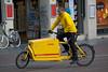 DHL cargo bike in Amsterdam, Netherlands