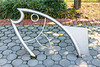 A whimsical bicycle rack on the Hoboken & Weehawken bicycle path on the New Jersey shore along the Hudson River