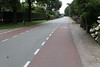 Cycle lanes on the main road in the Netherlands