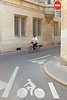 Bicycle right-of-way in Dijon, France