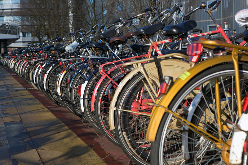 Bicycle park by Amsterdam Central Station