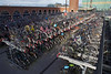 Multistorey bicycle park by the train station in Nijmegen, Netherlands