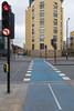 London Cycle superhighway 3 crossing Westferry Road