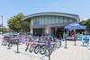 Blazing Saddles bike rental shop on Pier 84, Hudson River Park