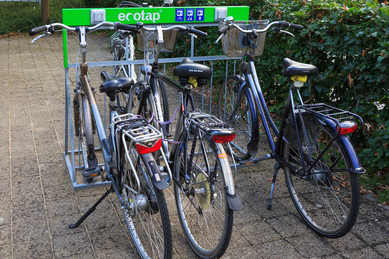 ecotap electric bicycle charging rack in Plasmolen, The Netherlands