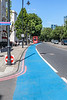 Cycle superhighway 8 heading east along Millbank, London, UK