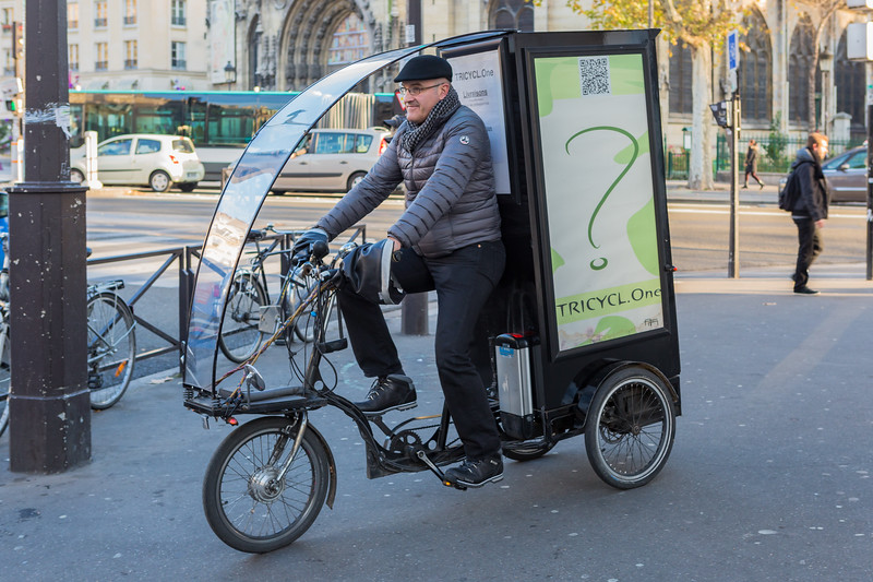 Tricycle.One cargo bike in Paris