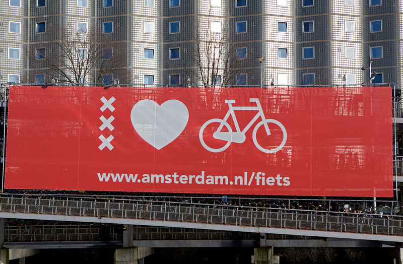 Amsterdam loves bicycles sign